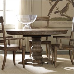 Hooker Furniture Sorella Round/Oval Pedestal Dining Table with Leaf