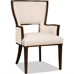 Hooker Furniture Brookhaven Fabric Arm Chair in Cherry