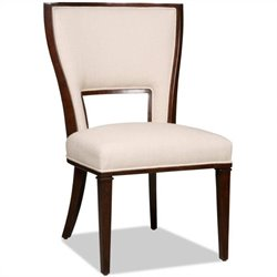 Hooker Furniture Brookhaven Upholstered Armless Dining Chair in Cherry