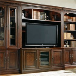 Hooker Furniture European Renaissance II Entertainment Console and Hutch in Cherry