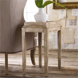 Hooker Furniture Melange Coralie Accent Table in Soft Oyster