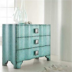 Hooker Furniture Melange Turquoise Crackle Accent Chest in Turquoise