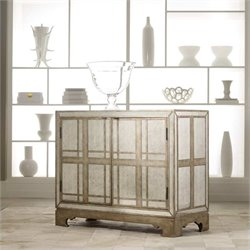 Hooker Furniture Melange Mirrored Plaid Accent Chest in Mirrored Finish