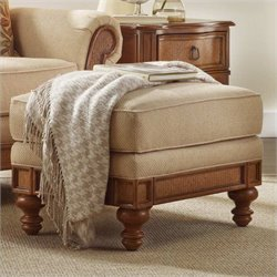 Hooker Furniture Windward Upholstered Ottoman in Dark Honey