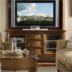 Hooker Furniture Windward 62 Inch TV Console in Light Brown Cherry