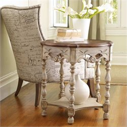 Hooker Furniture Sanctuary Round Accent Table in Dune and Drift