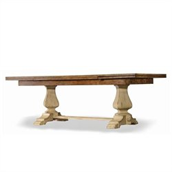 Hooker Furniture Sanctuary Refectory Dining Table in Dune and Drift