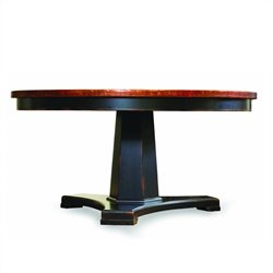Hooker Furniture Sanctuary 60in Round Pedestal Dining Table in Ebony