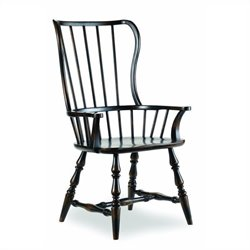 Hooker Furniture Sanctuary SpindleArm Dining Chair in Ebony