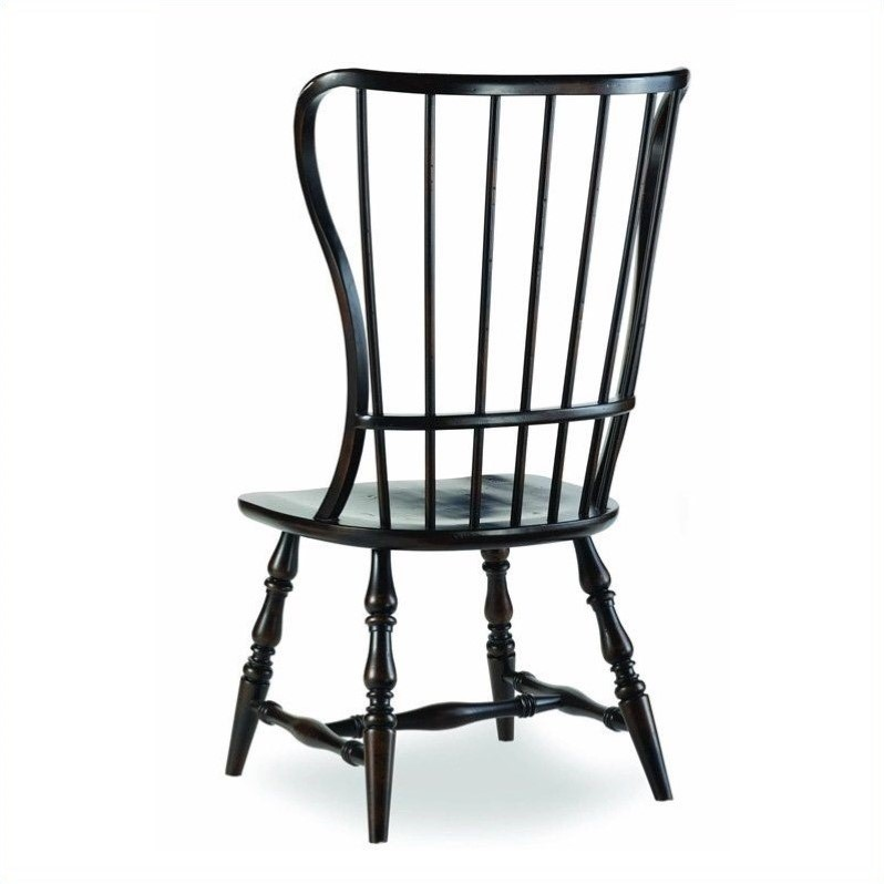 Hooker Furniture Sanctuary Spindle Dining Chair in Ebony