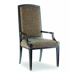 Hooker Furniture Sanctuary Mirage UpholsteredArm Dining Chair in Ebony