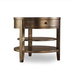 Hooker Furniture Sanctuary One-Drawer Round Lamp Table in Visage
