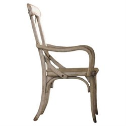 Hooker Furniture Wakefield X BackArm Dining Chair in Taupe