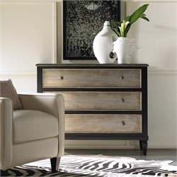 Hooker Furniture Harbour Pointe Black Three Drawer Accent Chest