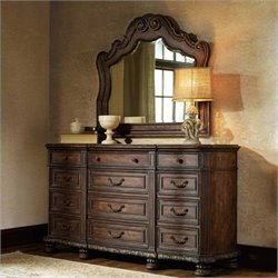 Hooker Furniture Adagio Twelve Drawer Dresser and Mirror Set