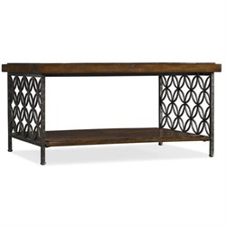 Hooker Furniture Adagio Cocktail Table with Patterned Iron