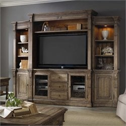 Hooker Furniture Sorella 4 Piece Wall Group in Warm Brown