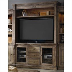 Hooker Furniture Sorella Entertainment Console with Hutch in Brown