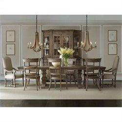 Hooker Furniture Sorella Rectangle Dining Table Set in Brown