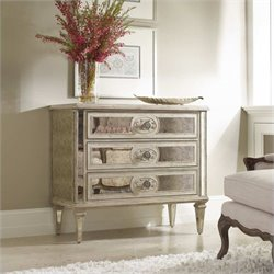 Hooker Furniture Sutherland Three Drawer Antique Mirrored Accent Chest