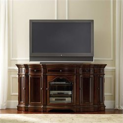 Hooker Furniture Turnbridge 74 Inch Entertainment Console in Dark Cherry