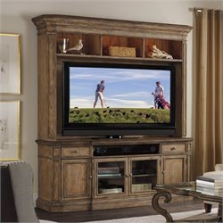 Hooker Furniture Solana TV Stand with Hutch in Light Oak