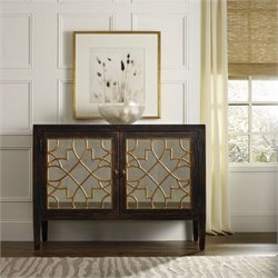 Hooker Furniture Sanctuary 2-Door Mirrored Console in Ebony