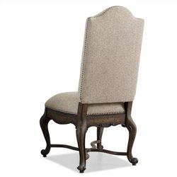 Hooker Furniture Rhapsody Upholstered  Dining Chair in Rustic Walnut