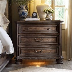 Hooker Furniture Rhapsody 3-Drawer Bachelor's Chest in Rustic Walnut