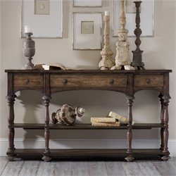 Hooker Furniture Rhapsody Thin Console Table in Rustic Walnut