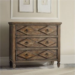 Hooker Furniture Rhapsody 3-Drawer Diamond Accent Chest in Rustic Walnut