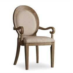 Corsica Upholstered Oval Back Arm Chair