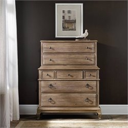 Corsica 7-Drawer Chest on Chest