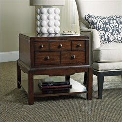 Hooker Furniture Palisade 2-Drawer End Table in Walnut