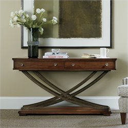 Hooker Furniture Palisade Cross Base Sofa Table in Walnut