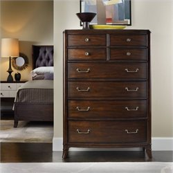 Hooker Furniture Palisade 8-Drawer Chest in Walnut