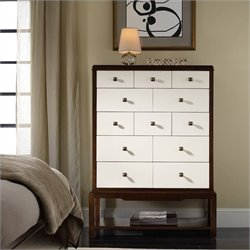 Hooker Furniture Palisade 12-Drawer Chest in Walnut and White