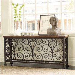 Hooker Furniture Marble Metal Framed Console Table