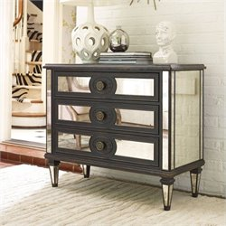 Hooker Furniture 3-Drawer Accented Mirrored Accent Chest