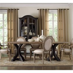 Corsica Rectangular Pedestal Dining Table with 2 x 20