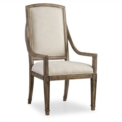Hooker Furniture Solana Host Dining Chair in Light Oak