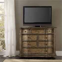 Hooker Furniture Solana 8-Drawer Media Accent Chest in Light Oak