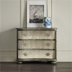 Hooker Furniture 3-Drawer Mirrored Accent Chest in Rustic Birch