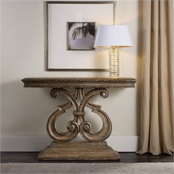 Hooker Furniture Solana Console Table in Weathered Oak