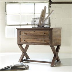 Hooker Furniture Melange Bennett X-Base Lateral File in Distressed Pine