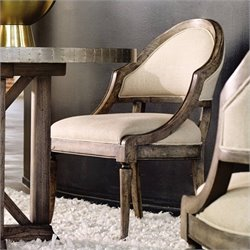 Hooker Furniture Melange Bentley Upholstered Dining Chair in Weathered Natural
