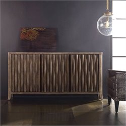 Hooker Furniture Melange 3-Door Kashton Credenza in Organic and Natyrak Tibe