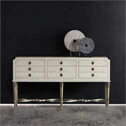 Hooker Furniture Melange 6-Drawer Nadia Console Table in Beige and Champagne