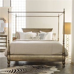 Hooker Furniture Melange Montage Canopy Poster Bed in Champagne