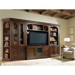 Hooker Furniture European Renaissance II Entertainment Wall in Cherry